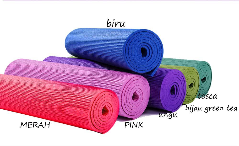 Cod - Matras Yoga Anti Selip Kualias Bagus + Free Tas / Matras Yoga Tebal 6mm / Matras Olahraga Outdoor Indoor By World Home.