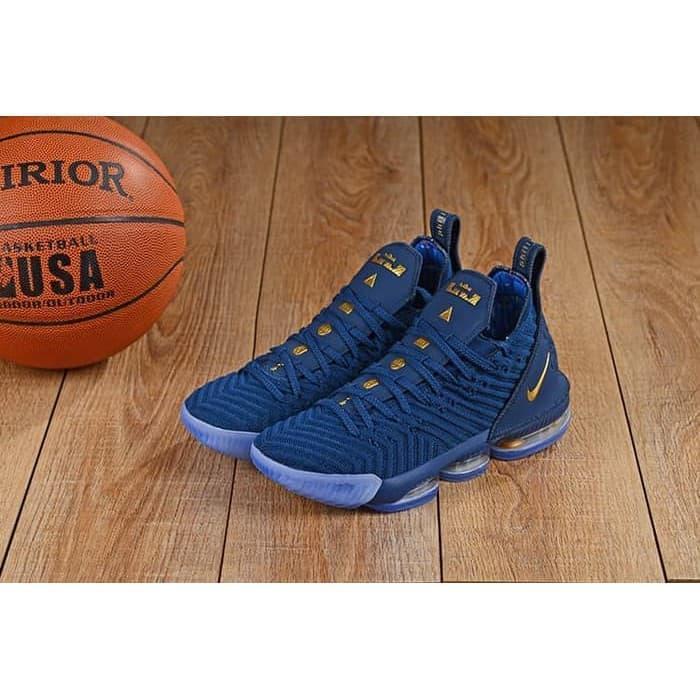 Sepatu Sneakers Nike Lebron James XV1 16 Navy Blue Gold Perfect Kick Original PK PRIA / Sepatu Terbaru / Sepatu Murah / Sepatu Kekinian / Sepatu Diskon / Sepatu Kekinian / Sepatu Hits / Sepatu Promo / Sepatu Terlaris / Sepatu Keren / Sepatu Trend Lamacca