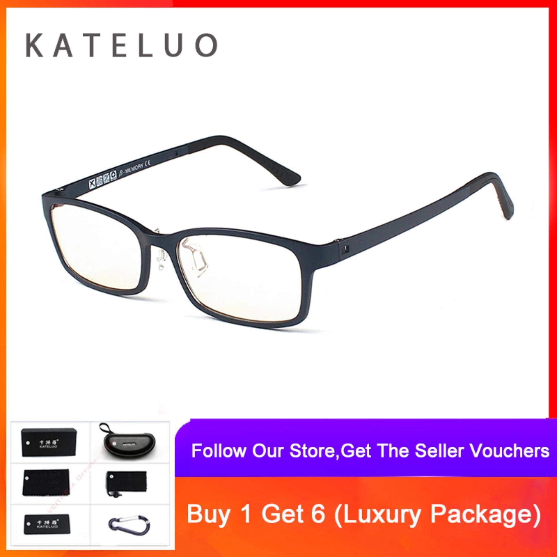 Cod+pengiriman Gratis Kateluo Tungsten Carbon Kacamata Baca Berbingkai Anti Laser Biru Lelah Tahan Radiasi K1310 By Veithdia Official Store.