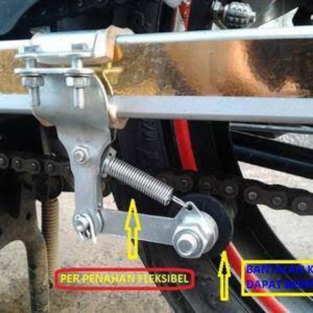 (cod) Stabilizer Rantai Rante Chain Guide Penahan Motor Tensioner Stabil Rol Untuk Motor Universal By Captain Store24.