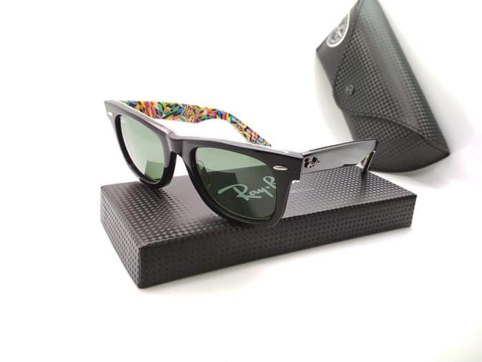 Kacamata pria wanita Rayban wayfarer Motif kualitas super premium - Foto Ke  Satu - ready stock e60222fae9