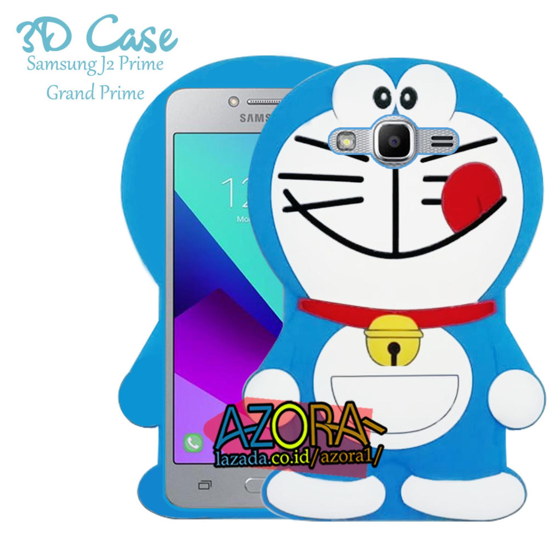 3D Case Samsung Galaxy J2 Prime / Grand Prime Softcase 4D Karakter Boneka Hello Kitty Doraemon
