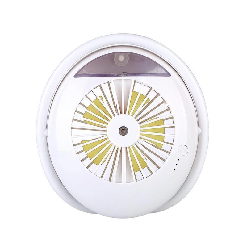 Mini USB Rechargeable Desktop Cooling Fan Mist Spray Humidifier Beauty Fan Singapore