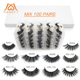 MAGEFY 100 Pair 3D Fake Eyelashes Bulu Mata Panjang thumbnail
