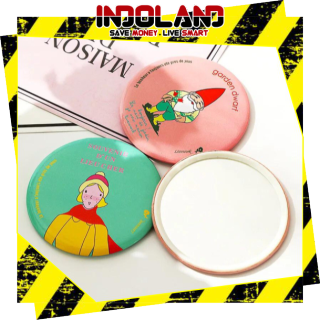 INDOLAND READY STOCK HAND MIRROR CERMIN KACA BULAT MAKE UP TRAVELING KARAKTER LUCU IMPOR BATAM R029 thumbnail