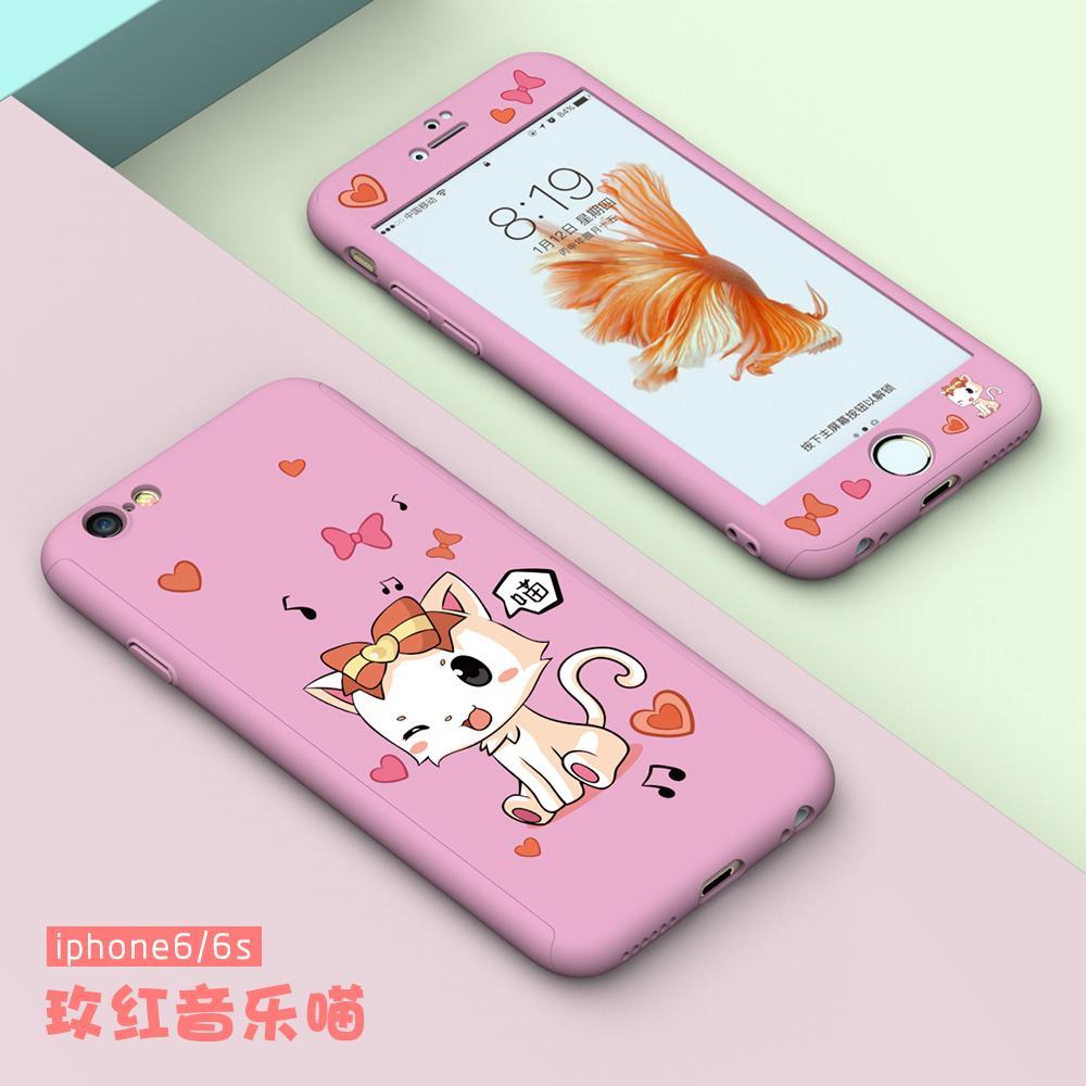 IPHONE 6 Casing HP 6 plus Model Wanita Kartun Imut 7 Korea Selatan 8 suasana Bungkus Penuh iphone6s Delapan 6 p