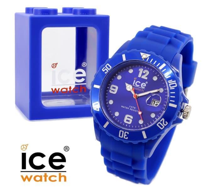 Jam Tangan Wanita Ice Watch Rubber Dark Blue