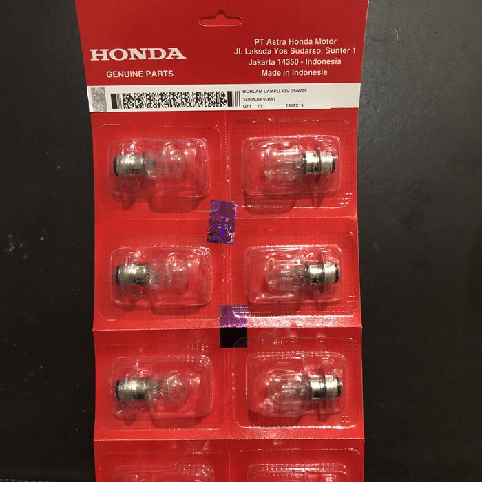 Bohlam Depan Lampu Honda 12 V 25 V25 / 25 Watt Grand Vario Beat
