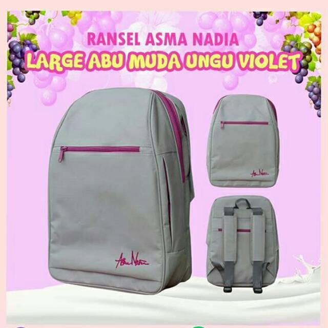 MEGAMEN - Ransel Asma Nadia Large Abu Muda Ungu Violet