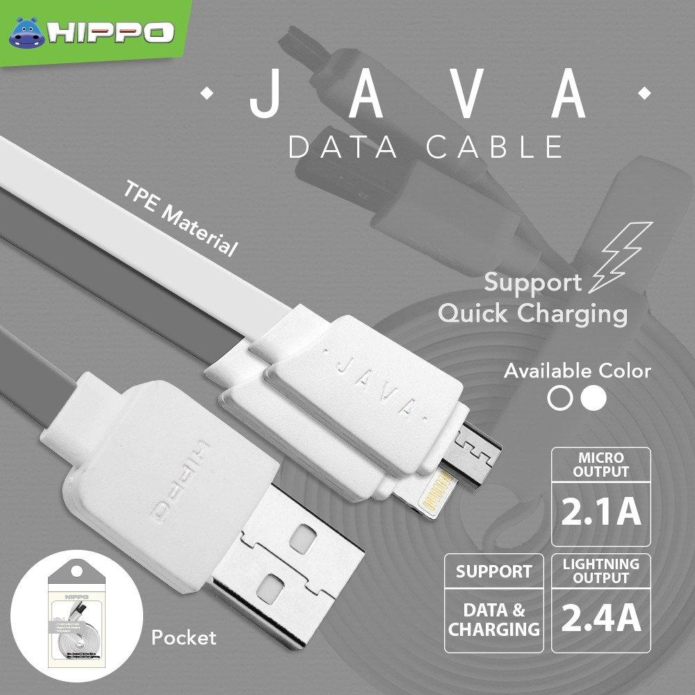 SRS Kabel Data Hippo Java Micro USB 180CM Fast Charging / Kabel Charger Fast Charging /
