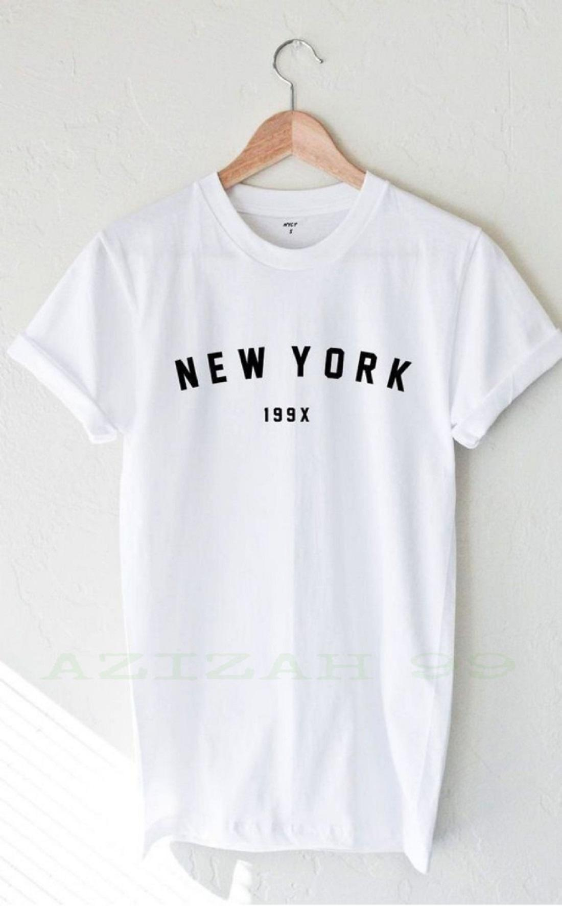 AZ99 Kaos Pria Distro Keren Terbaru Murah NY Korea Printing 3D Bergambar unisex Buatan Bandung Logo T-Shirt Pria 100% Cotton Combed 30s Atasan Pria Ukuran S M L XL XXL