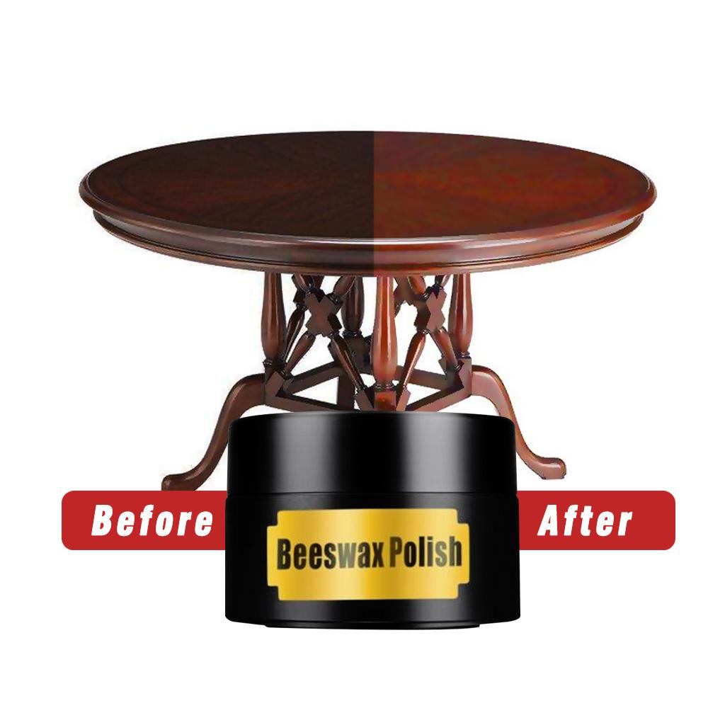 Qooiu Wood Seasoning Beewax Complete Solution Furniture Care Beeswax Care Polishing Waterproof Wear-resistant Wax Floor Wax Wooden Tables Chairs Cabinets Doors Super Durable Tool
