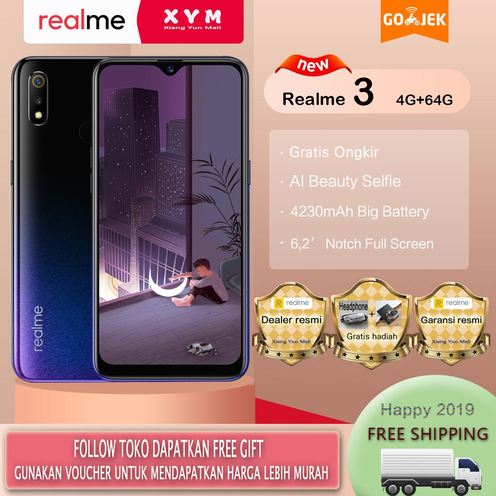 Realme 3 hp 4G/64G - COD, Gratis Ongkir, AI Facial Unlock, Fingerprint Unlock, Garansi resmi [ Please use the voucher ]