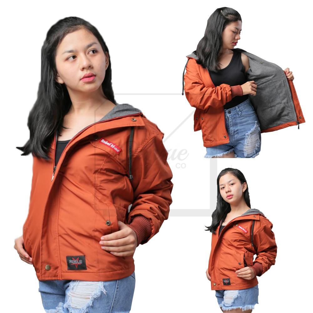 Jaket Taslan Hoodie Wanita New Edition - Oenzie Store