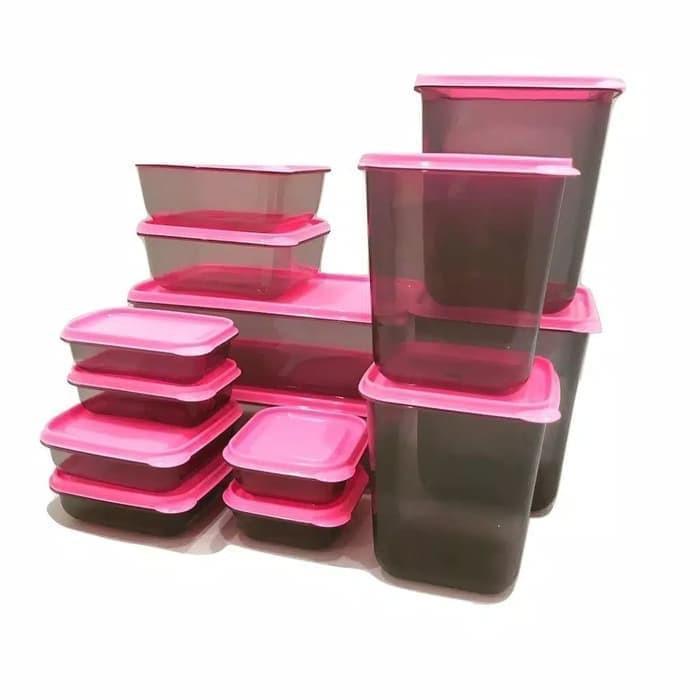 Toples Calista Otaru Smoke Sealware Premium Isi 14 Pcs Wadah Makanan