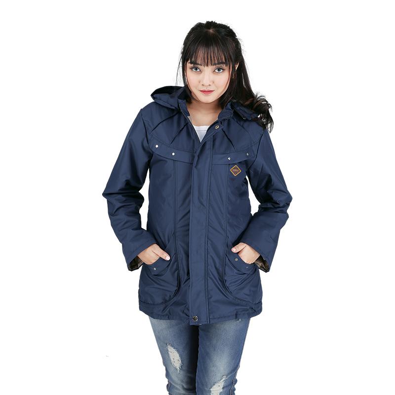 Best Seller Jaket Casual Wanita,jaket parka casual wanita RDIx081 Biru Navy