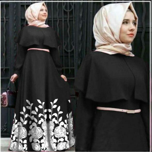 Popdesign Dress Muslim Andiani   Baju Gamis Terbaru   Maxi Hijab Wanita   Busana  Muslim Wanita 2c4840e788