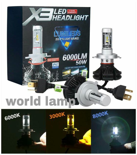 Best Buy LED X3 Philips Lampu LED Headlamp Mobil H4 Philips X3
