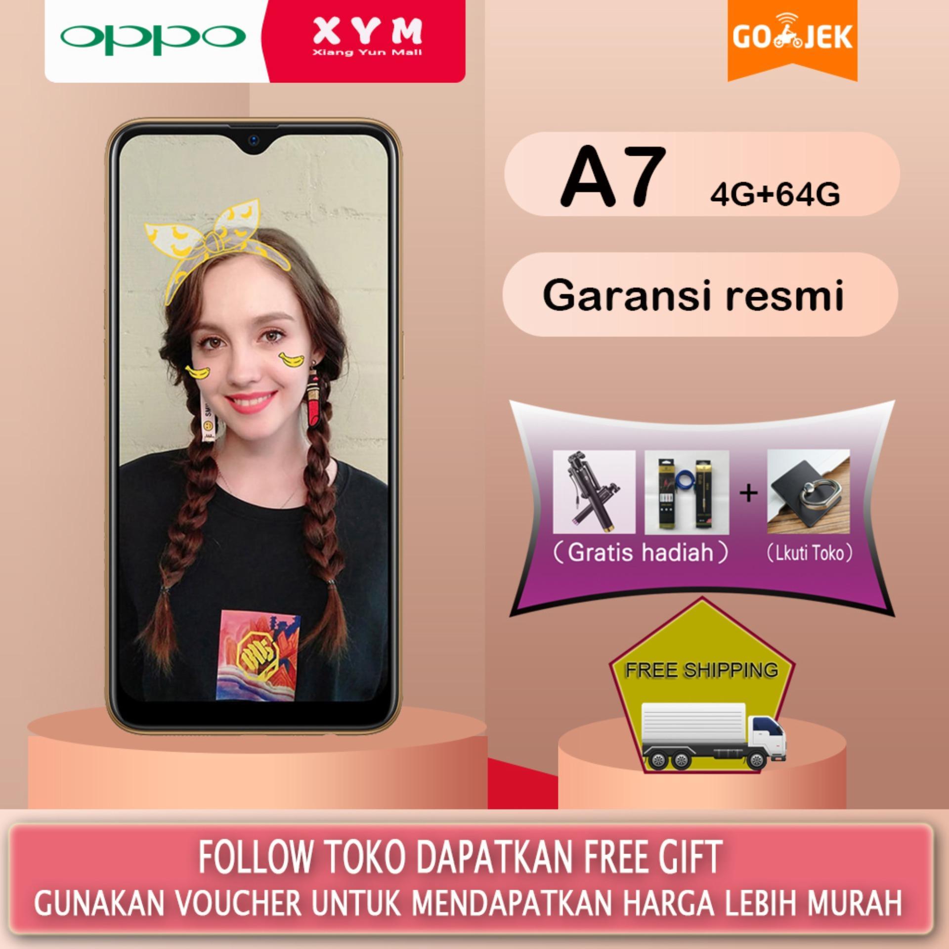 OPPO A7 - 4GB/64GB Waterdrop Screen 4230mAh Battery Gratis Ongkir Garansi resmi
