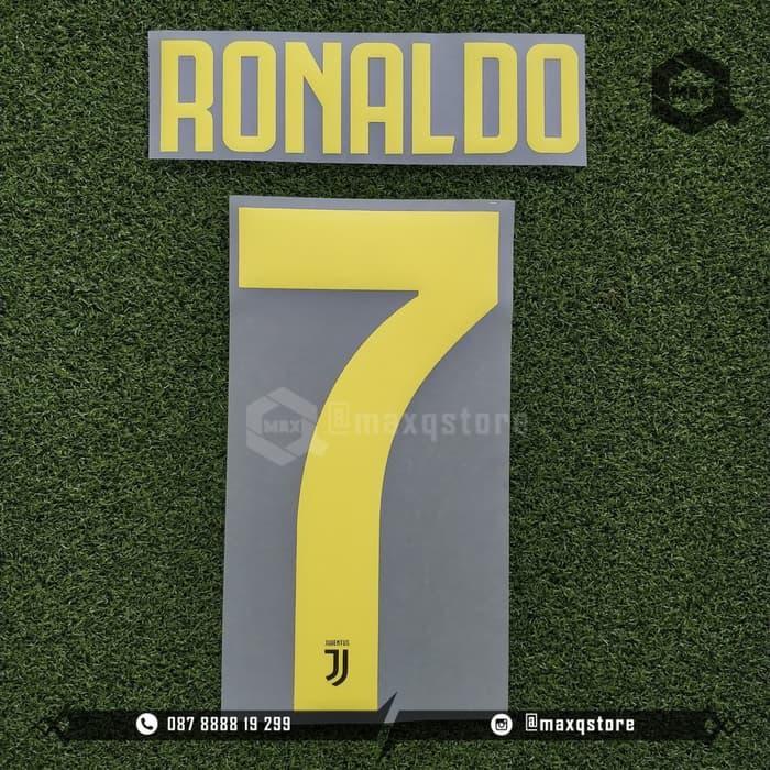 Nameset Ronaldo Juventus Third 2018/2019 Original Quality