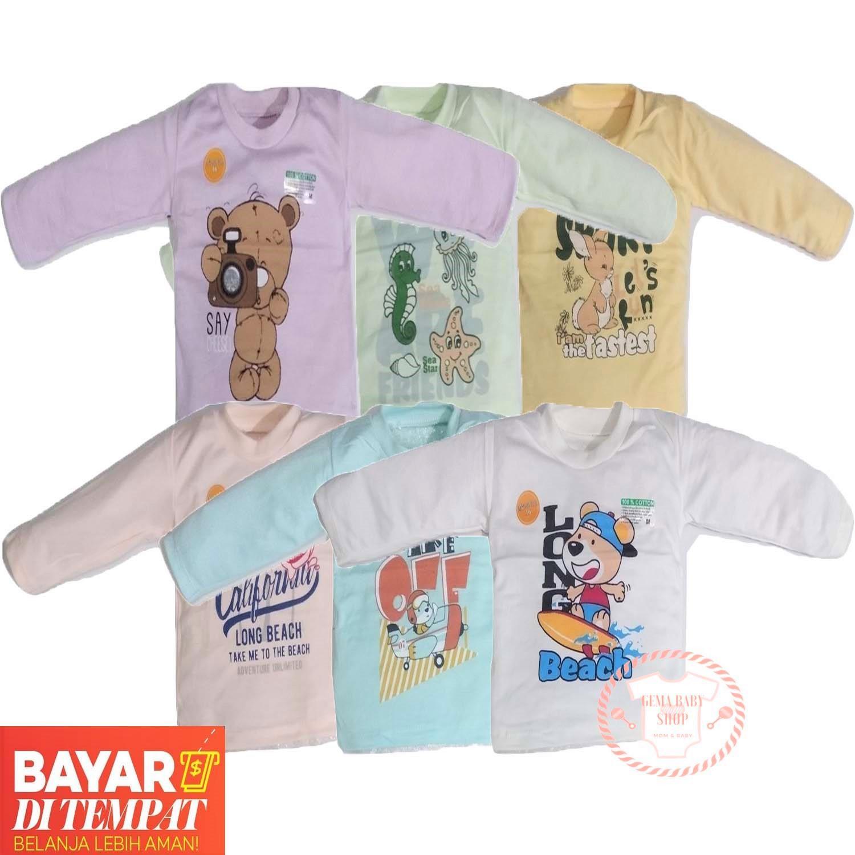 Gema 6pcs Baju Kaos Oblong Bayi Panjang Mamacer Multiwarna By Gemababy Shop.