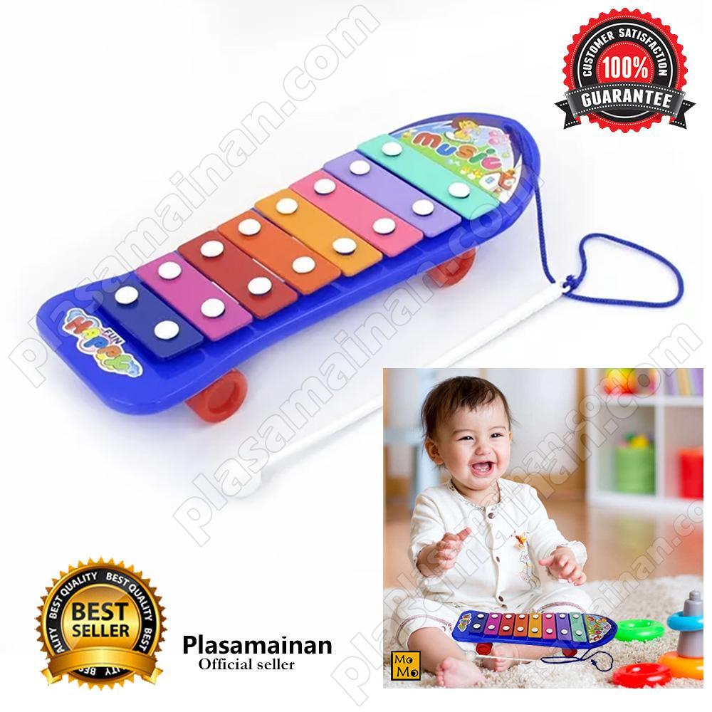 Momo Toys Mainan Anak Xylophone Skateboard Musical - Kolintang / Mainan Musikal / Mainan Anak By Plasamainan.