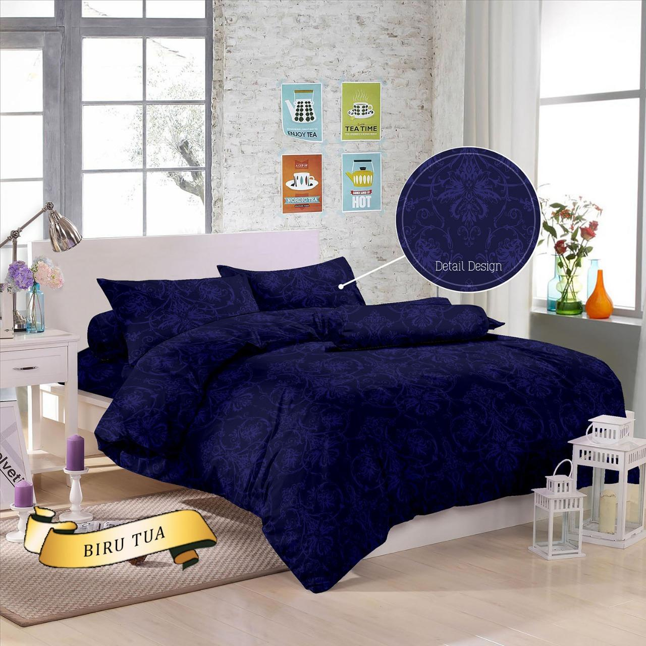 Bed Cover Bahan Jacquard Kingsize 180 x 200cm