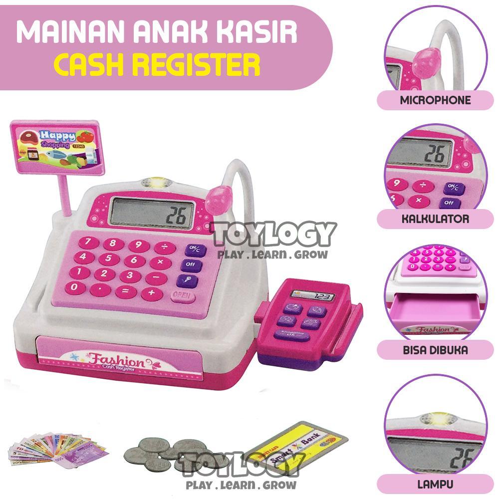 Mainan Anak Mesin Kasir Supermarket Check Out Cash Register Flashing Lights Sound Effects By Toylogy.