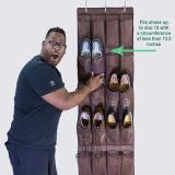 Penawaran Istimewa 24 Hanging Pintu Saku Gantung Bag Folding Shoe Rack Hanger Terbaru
