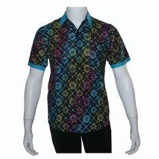 Harga Batik Solo Bo7002 Baju Kemeja Pria Batik Motif Truntum Biru Yang Murah Dan Bagus