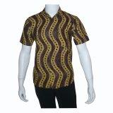 Beli Batik Solo Bo7003 Baju Kemeja Batik Pria Cokelat Cicilan