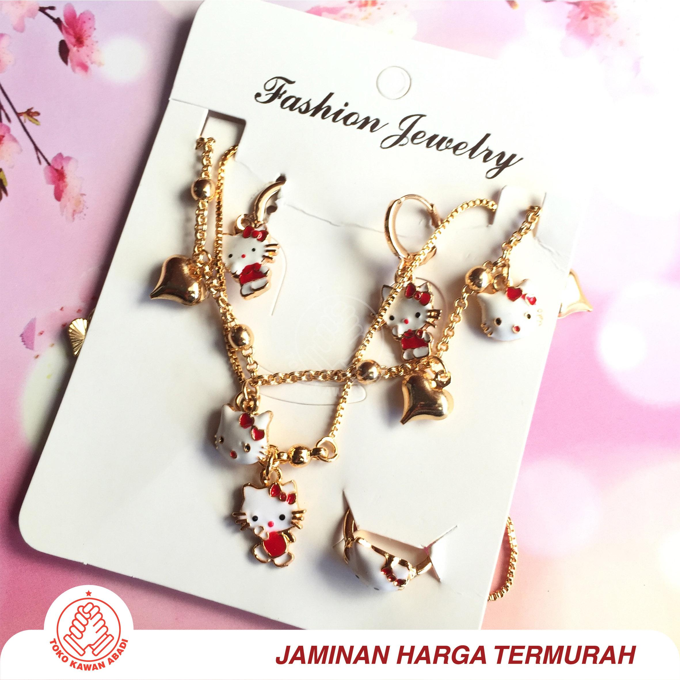 Xuping Set Anak Gold Motif Hellokitty Random *01 By Toko Kawan Abadi.