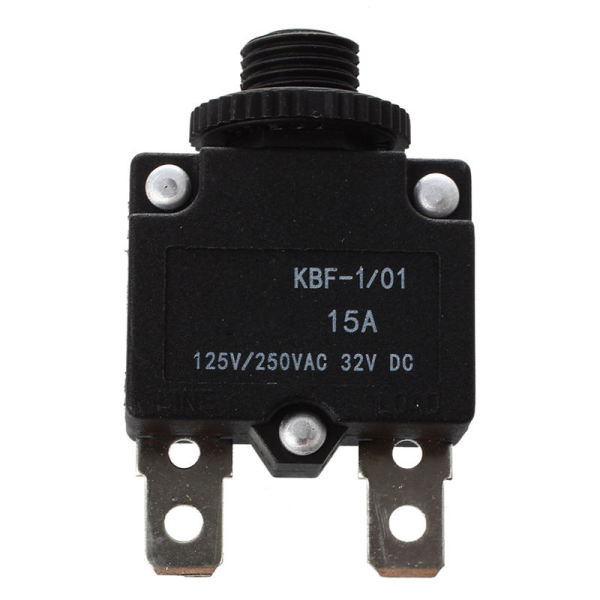 AC125/250V 15A Push Reset Button Circuit Breaker Overload Protector