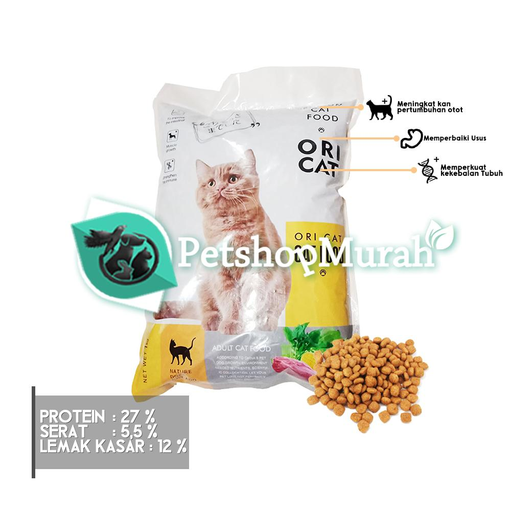 [ New Product ] Makanan Kucing Ori Cat 1kg Repacking / Makanan Kering 1 Kg Setara Maxi Cuties Jio Universal / Premium Catfood By P.s.m.