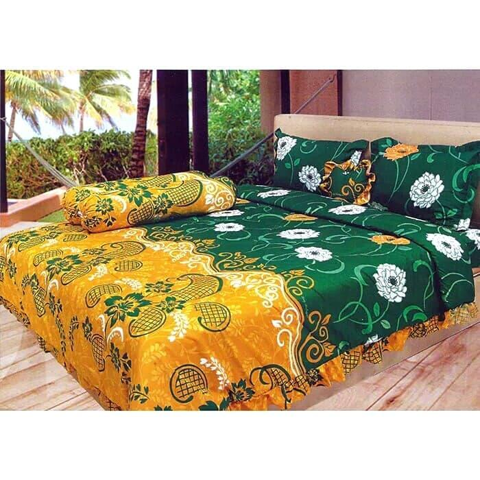 Sprei Lady Rose Green Borneo No.1 King 180x200 Seprei By Nemo Store.