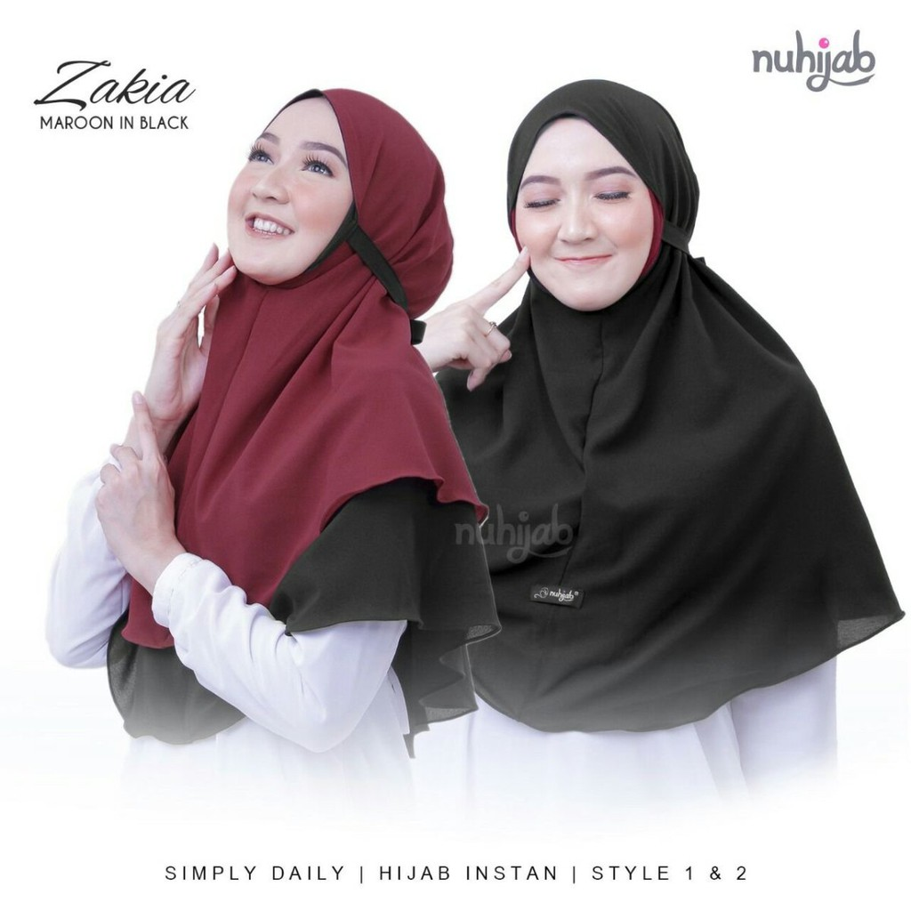 Cod Hijab Bergo Zakia Maryam 2 Layer Bolak Balik Bergo Maryam 2layer 2 Warna Lazada Indonesia