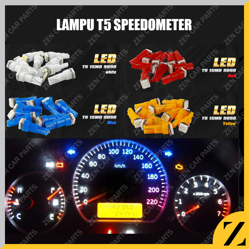 Lampu LED T5 Speedometer COB Speed Panel Mobil Motor Dashboard TERANG
