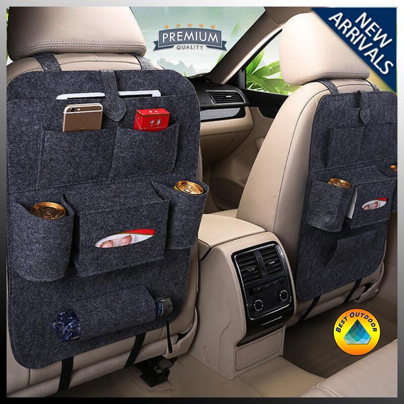 Tas Jok Mobil Multifungsi Car Seat Organizer Tempat Handphone, Majalah, Tissue, Payung Dan Botol Minum Mobil By Best Outdoor.