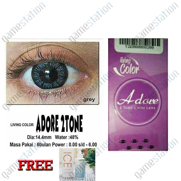 LIVING COLOR SOFTLENS ADORE 2 TONE - GREY FREE ICE CAIRAN