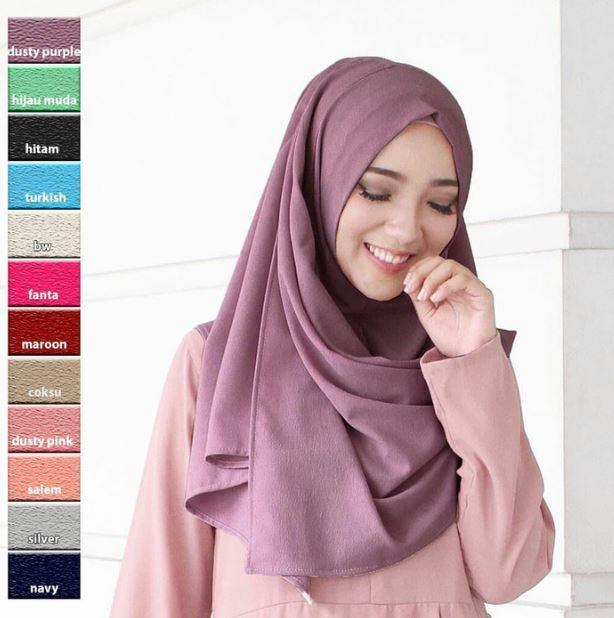 Jilbab Pashmina Instan Sala / Pastan Grosir Murah / Hijab Polos Keudung Praktis Simple