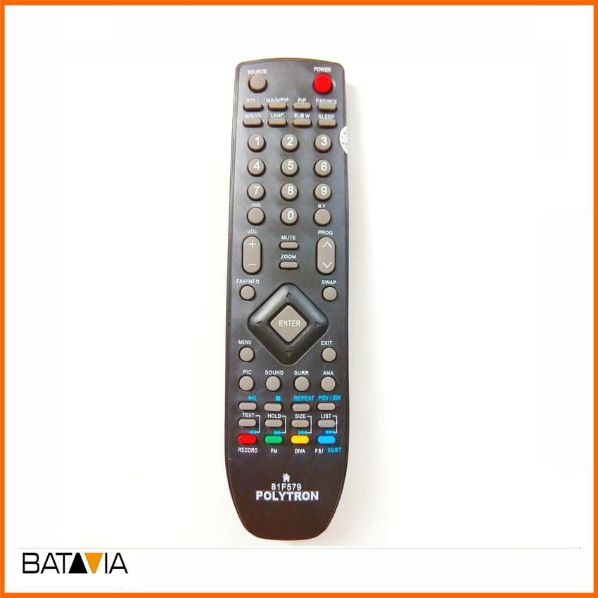 Remote TV Polytron 81f579 Remot TV LCD LED - Hitam