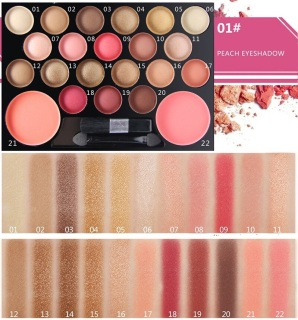 NOVO 2 color Contour Blush on + 20 color eyeshadow Colorful nude Shimmer Highlight makeup combination eye shadow palette 20+2 thumbnail
