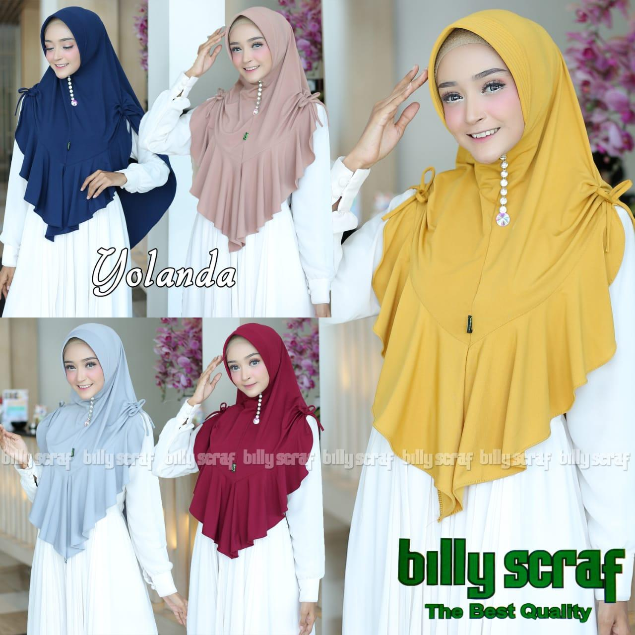 Hijab/Jilbab Instan Model Bergo terbaru termurah dan Terlaris / Kerudung Wanita Jersey yolanda/ DNK Jaya