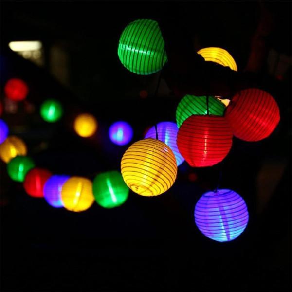 Đèn Lồng Chống Nước Năng Lượng Mặt Trời Ecanal, Dây Đèn Nhỏ Trang Trí Cảnh Quan Nghỉ Mát Vườn Giáng Sinh Chống Thấm Nước Ngoài Trời