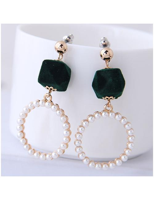 ... Gold Color Square Shape Decorated Earrings. 33.300 · LRC Anting Tusuk Fashion Metal Ring Pearl Stud Earrings