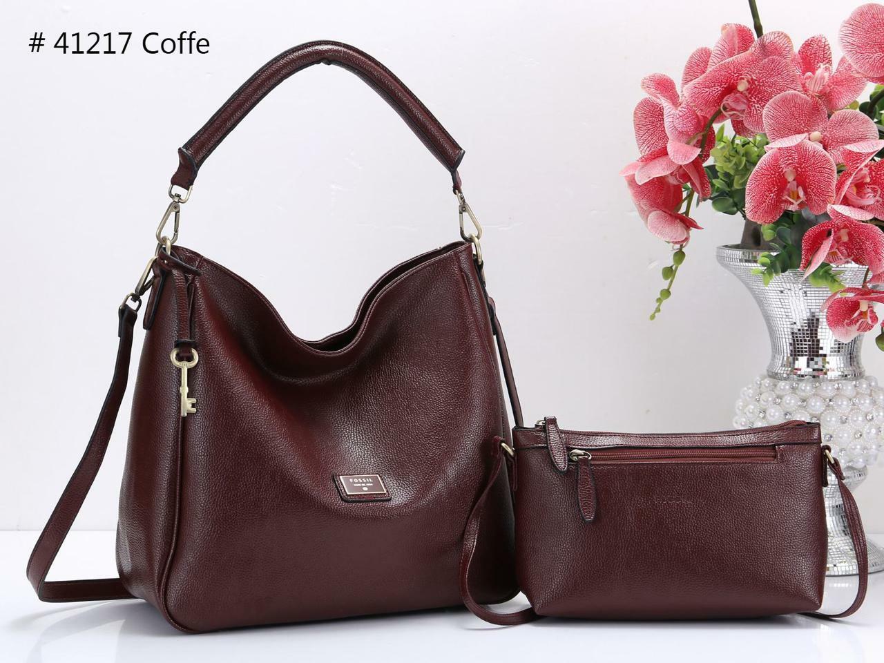 tas wanita fossil shopie hobo tote bag branded import fashion kerja casual  set slingbag santai batam 413a6143bf