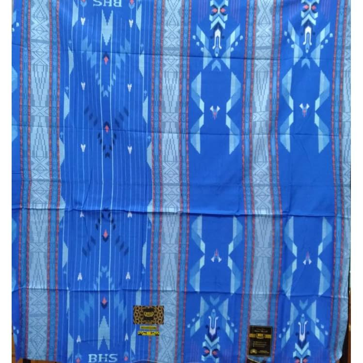 Sarung BHS SGE Sutera 50% GOLD warna Biru Muda