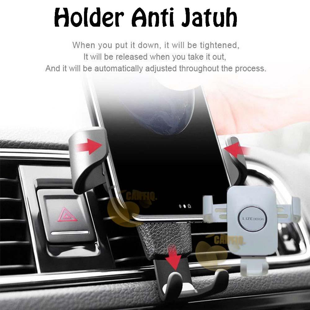 Holder Vent Car Holder Mobil Ventilasi AC Holder Phone Lize Design Holder Clip Magnetic Holder (HP) / Dudukan HP di Mobil Holder Tatakan GPS Universal Tatakan Hp Mobile Car Anti Jatuh Holder Car AC Mobil GPS For All Smartphone - Warna Acak