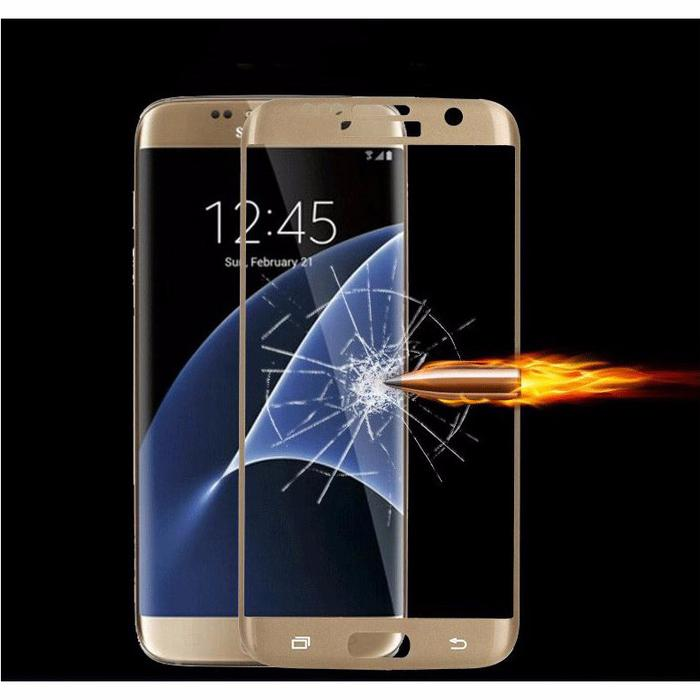REMAX Ultra Thin 3D Magic Tempered Glass Samsung Galaxy S7 Edge Golden