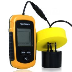 Jual Fish Finder Portable Alat Pelacak Ikan Yellow Lengkap